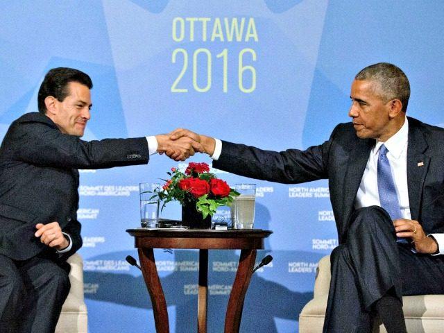 Obama and Nieto AP