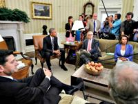 Obama with Leaders Oval Jacquelyn Martin, AP