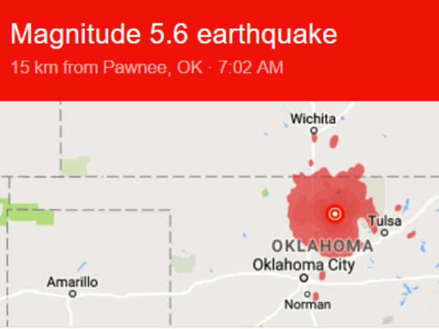 Pawnee Earthquake