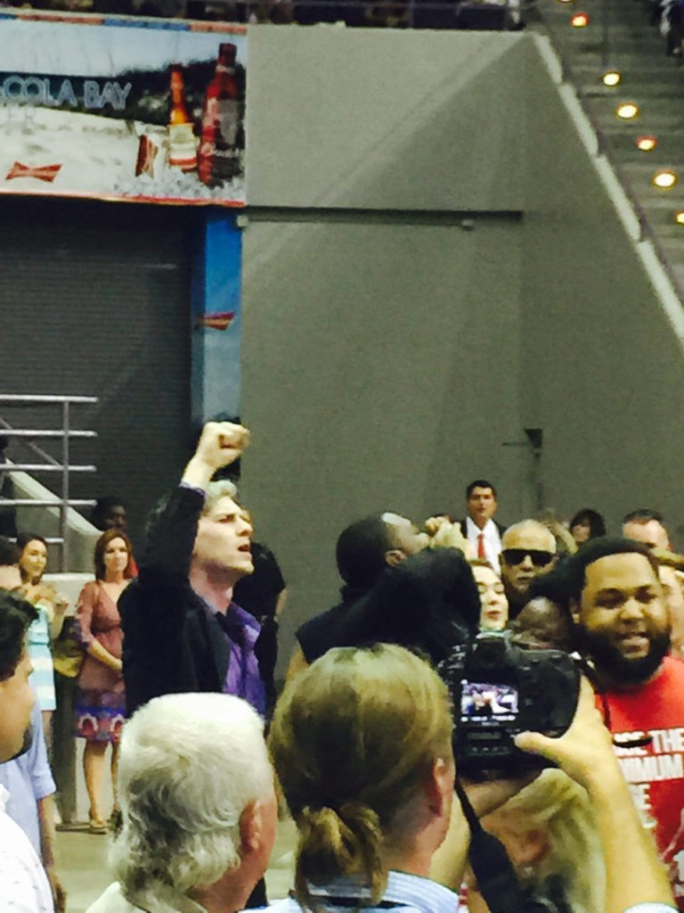 Protesters interrupted GOP nominee Donald Trump's speech in Pensacola