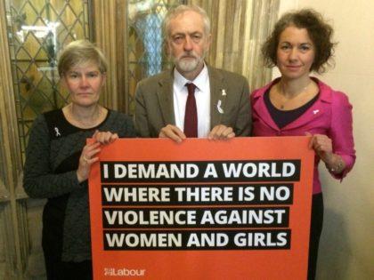 Sarah Champion and Jeremy Corbyn