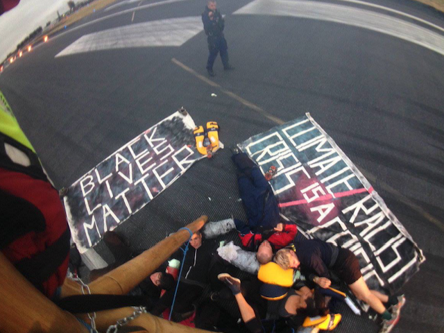 Black Lives Matter activists arrested after blocking London City Airport runway