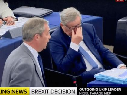 Nigel Farage Jean-Claude Juncker