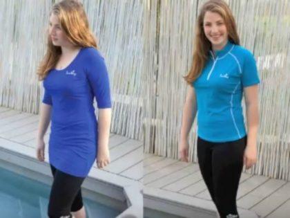 SunWay modest swimwear burkini YouTube screengrab