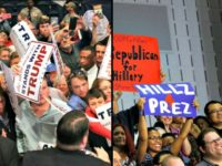 Trump Crowd Hillary Crowd