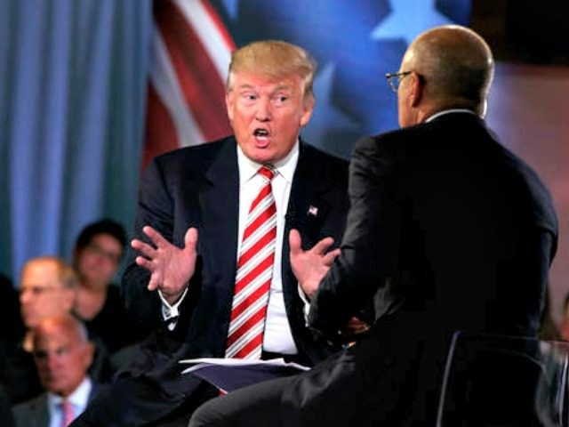 Republican presidential candidate Donald Trump speaks during the Commander in Chief Forum hosted by NBC, Wednesday, Sept. 7, 2016, in New York. (AP Photo/Evan Vucci)