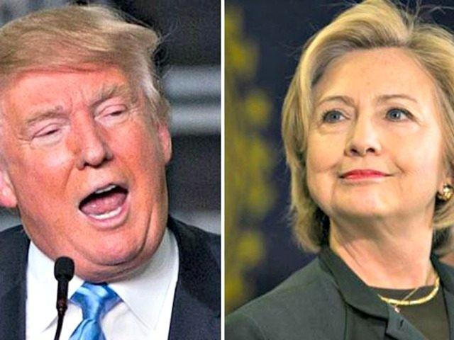 Trump Surging Clinton Wire Photos