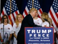 Trump Rallies Crowd: Media Doesn't 'Want to Talk to the Angel Moms'