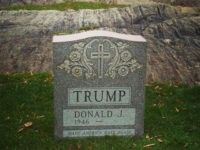 Donald Trump Tombstone to Be Displayed in Brooklyn Art Gallery