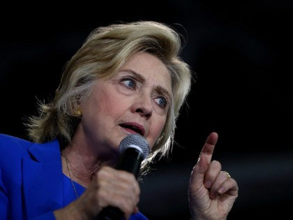 CHARLOTTE, NC - SEPTEMBER 08: Democratic presidential nominee former Secretary of State Hillary Clinton speaks during a voter registration event at Johnson C. Smith University on September 8, 2016 in Charlotte, North Carolina. Hillary Clinton is campaigning in North Carolina and Missouri. (Photo by Justin Sullivan/Getty Images)