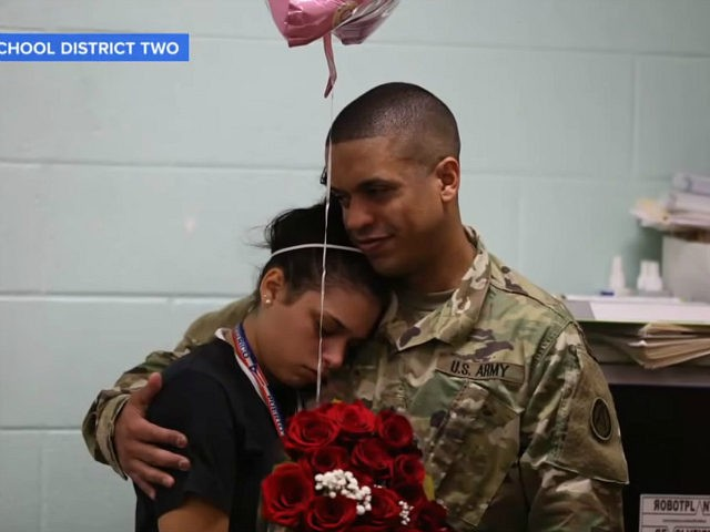 Father Comes Home Early from Deployment, Surprises Daughter at School