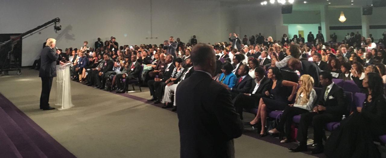 Trump addresses the church