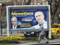 "A billboard on a main street by the Ankara municipality to thank Turkish Prime Minister Recep Tayyip Erdogan reads: "" We are grateful to you "" in Ankara, on March 25, 2013, three days after Israeli Prime Minister Benjamin Netanyahu apologized to Turkey over the death of nine Turkish citizens …"
