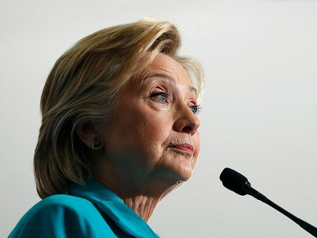 FILE - In this Thursday, Aug. 25, 2016, file photo, Democratic presidential candidate Hillary Clinton pauses as she speaks at a campaign event at Truckee Meadows Community College, in Reno, Nev. Republicans and Democrats sparred Sunday over whether Hillary Clinton crossed ethical lines during her tenure as secretary of state …