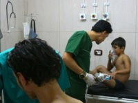 SYRIA, ALEPPO : Doctors treat Syrians suffering from breathing difficulties at a make-shift hospital in Aleppo after regime helicopters dropped barrel bombs on the rebel-held Sukkari neighbourhood of the northern Syrian city on September 6, 2016. The Britain-based Syrian Observatory for Human Rights said the bombs hit the Sukkari neighbourhood …