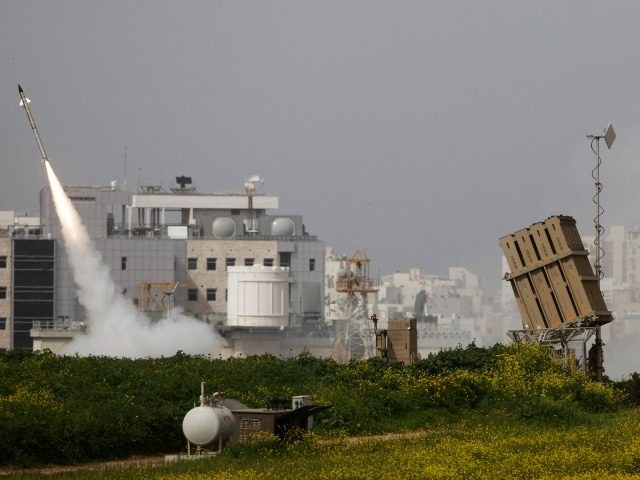 ASHDOD, ISRAEL - MARCH 12: (ISRAEL OUT) An Israeli missile is launched from the Iron Dome missile system in response to a rocket launch from the nearby Palestinian Gaza Strip, on March 12, 2012 near Ashdod, Israel. According to the IDF, four rocket-launching sites, militants and a weapons storage facility …