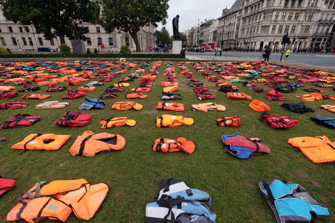Lifejackets Parliament square