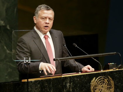 FILE - In this Sept. 24, 2014, file photo, Abdullah II ibn Al Hussein, the King of Jordan, speaks during the 69th session of the United Nations General Assembly at U.N. headquarters. The president of Turkey and king of Jordan joined the long line of world leaders, religious figures and …