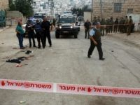 Israeli security forces gather at the scene of a stabbing attack, where a Palestinian stabbed an Israeli soldier before he was shot dead, in the flashpoint West Bank city of Hebron on September 17, 2016. An Israeli military statement said the attacker drew a knife during a routine security check …