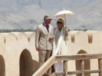 NIZWA, OMAN - MARCH 18: Prince Charles, Prince of Wales and Camilla, Duchess of Cornwall visit Nizwa Fort on the eighth day of a tour of the Middle East on March 18, 2013 in Nizwa, Oman. The Royal couple are on the fourth and final leg of a tour of …