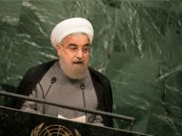 NEW YORK, NEW YORK - SEPTEMBER 22: President of Iran Hassan Rouhani addresses the United Nations General Assembly at UN headquarters, September 22, 2016 in New York City. According to the UN Secretary-General Ban ki-Moon, the most pressing matter to be discussed at the General Assembly is the world's refugee crisis. (Photo by Drew Angerer/Getty Images)