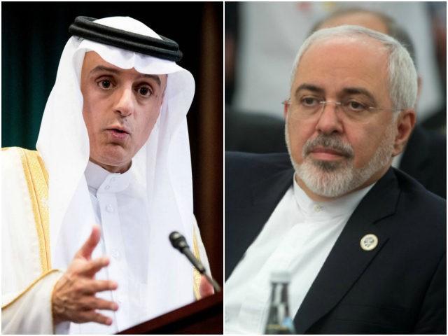 Saudi Arabia Foreign Minister Adel al-Jubeir and Iranian Foreign Minister Mohammad Javad Zarif