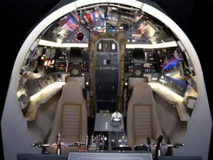 LONDON, ENGLAND - JUNE 18: (Images embargoed till 9am, 23rd June 2016) Interior of the Millenium Falcon on display at the Star Wars Gallery at Harrods on June 18, 2016 in London, England. (Photo by Anthony Harvey/Getty Images for Harrods)