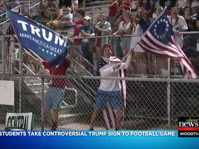 Students Waving Trump, 'Betsy Ross' Flags at Football Game Cause a Stir