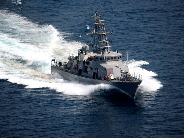 The cyclone-class coastal patrol ship USS Firebolt during an exercise in the Arabian Gulf, October 1, 2011. U.S. NAVY/Mass Communication Specialist 2nd Class Walter M. Wayman