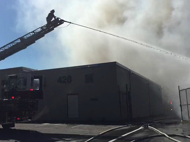 VIDEO: Fire Destroys USDA Storage Facility Days After Anonymous Email Threats