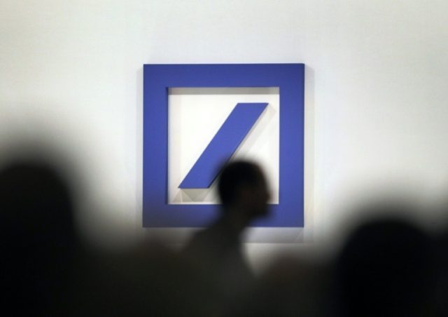 Deutsche Bank shares were up 16 percent to 11.70 euros in Frankfurt