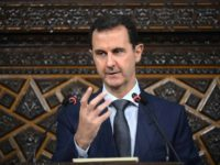 Syrian President Bashar al-Assad addressing the new parliament in Damascus