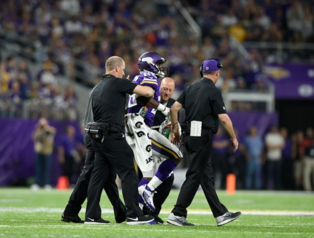 Adrian Peterson of the Minnesota Vikings underwent an MRI scan which found a tear in his right meniscus