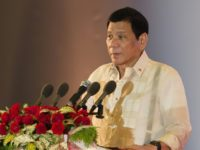Philippine President Rodrigo Duterte speaks during the closing ceremony of the Association of Southeast Asian Nations (ASEAN) summit in Vientiane on September 8, 2016