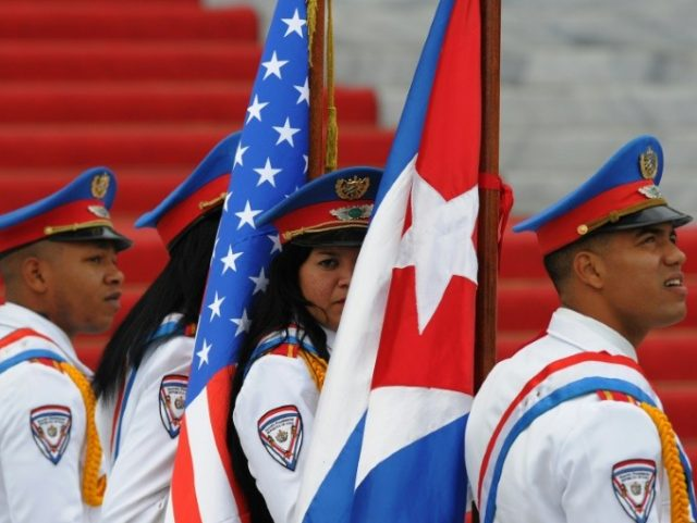 Cuba's foreign ministry underscored that progress on rapprochement would require an end to the US sanctions that have been clamped on Havana for decades