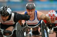 "Britain's David Weir, known as ""Weirwolf"", has six Paralympics golds and a host of records including being the first man to finish a wheelchair mile in under three minutes"