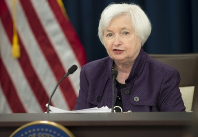 Federal Reserve Chair Janet Yellen speaks during a press conference following the announcement that the Fed will leave rates unchanged, in Washington, DC, September 21, 2016
