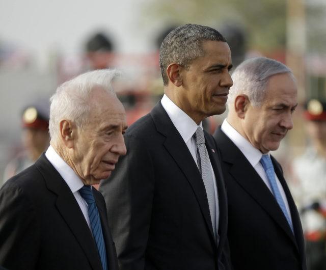 Barack Obama, Benjamin Netanyau, Shimon Peres