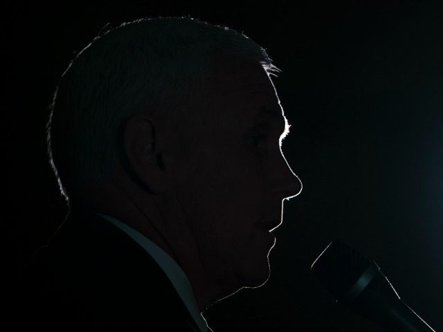 Republican vice presidential candidate, Indiana Gov. Mike Pence speaks during a campaign stop in Gettysburg, Pa., Thursday, Oct. 6, 2016.