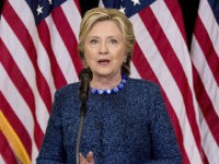 Democratic presidential candidate Hillary Clinton speaks at a news conference at Theodore Roosevelt High School in Des Moines, Iowa, Friday, Oct. 28, 2016. The FBI dropped what amounts to a political bomb on the Clinton campaign on Friday when it announced it was investigating whether new emails involving the Democratic …