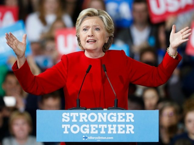 Democratic presidential candidate Hillary Clinton speaks at a campaign rally at Kent State University, Monday, Oct. 31, 2016, in Kent, Ohio.