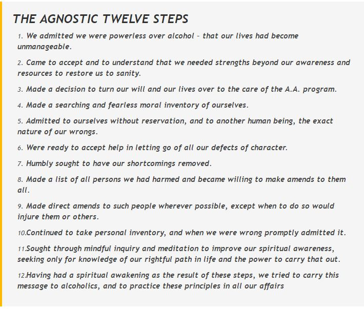 Agnostic Twelve Steps