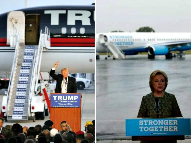Airport Rally Trump/Clinton