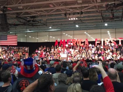 America First Trump rally (Joel Pollak / Breitbart News)