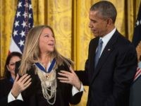 Barbra Streisand and Barack Obama (Nicholas Kamm / AFP / Getty)