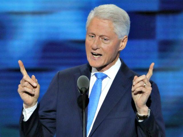 Bill Clinton Two-Finger AP