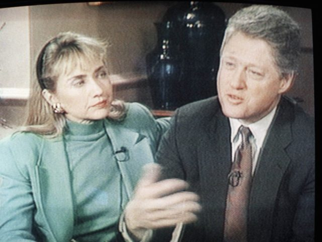 Bill and Hillary Clinton scandal (CBS-TV via Associated Press)