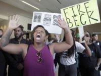 Black Lives Matter fire LAPD Beck (Nick Ut / Associated Press)