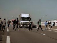 Calais Migrants Road