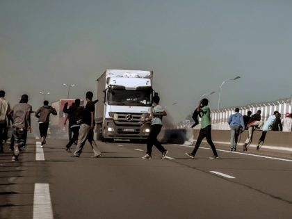 Calais Migrants Road